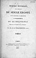 """Villeneuve """"Memoire historique..."""", 1827; title page Wellcome L0001053.jpg"""