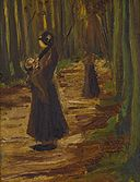 Vincent van Gogh - Two women in a wood (1882).jpg