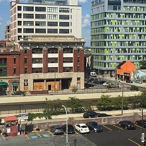 Vine Street (Philadelphia) - Vine Street as viewed from Camac Street, showing intersection at 11th Street