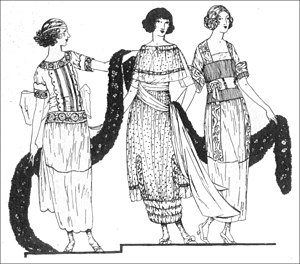Vogue fashion plate day dresses June 1919.jpg