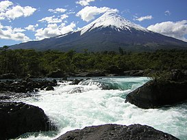 Volcano Osorno and Petrohué waterfalls.JPG