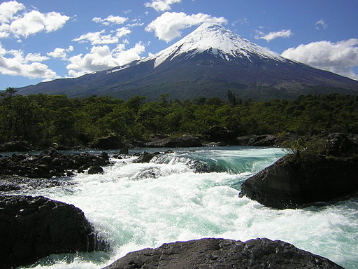 Volcano Osorno and Petrohué waterfalls