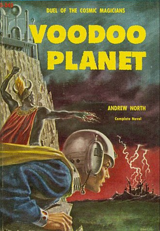Andre Norton - Image: Voodoo Planet, by Andrew North cover Project Gutenberg e Text 18846