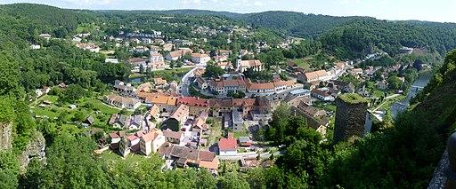 Vranov nad Dyjí, panorama od zámku