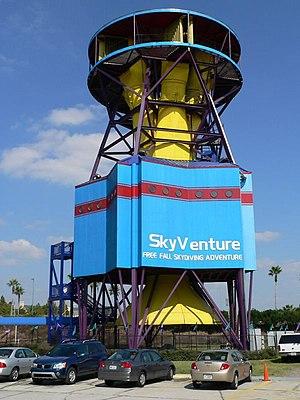 Vertical wind tunnel - Non-recirculating indoor recreational vertical wind tunnel.