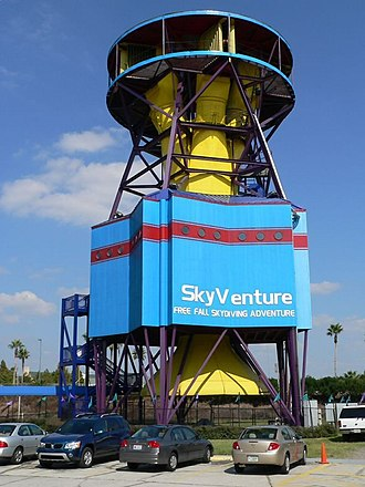 Vertical wind tunnel - Non-recirculating indoor recreational vertical wind tunnel.