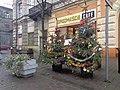 Włocławek-Śródmieście Cafe and christmas trees decorated by seniors.jpg