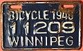 WINNIPEG MANITOBA 1946 -BICYCLE PLATE - Flickr - woody1778a.jpg