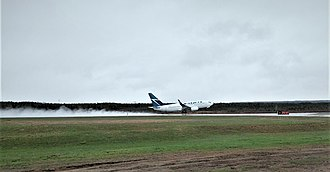 Deer Lake Regional Airport - A WestJet Boeing 737-700 taking off from Deer Lake Airport