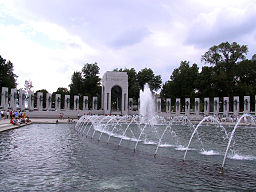 WWII Memorial Pacific fountain