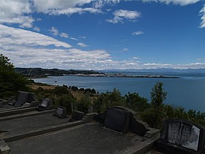 Wakapuaka Cemetery - City look-out from the south of the cemetery