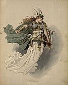 Walküre (Waltraute) (mezosoprano), figurino di Carl Emil Doepler per Die Walküre (1876) - Archivio Storico Ricordi ICON003994.jpg
