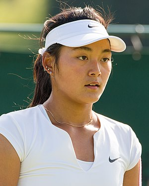 Wang Yafan - Wang at the 2015 Wimbledon<br/>qualifying tournament