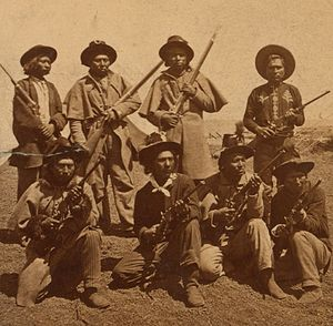 United States Army Indian Scouts - A group of Warm Spring Apache scouts