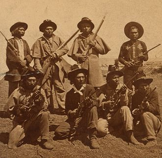 Apache Scouts - Warm Springs Apache scouts in the 1870s.