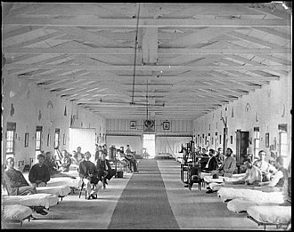Armory Square Hospital - Image: Washington, D.C. Patients in Ward K of Armory Square Hospital LOC cwpb.04246