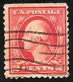 Washington Franklin series stamp 2c coil w cancellation.jpg