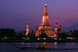 Religion in Thailand - Wat Arun at twilight.