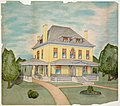 Watercolor elevation rendering of the Z. B. Job, Jr. residence in Alton, Illinois, by Lucas Pfeiffenberger and Son, 1902.jpg