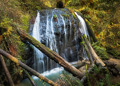 Waterfall in Russian Gulch State Park, Mendocino County, California