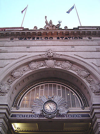 Waterloo Road, London - The main entrance of Waterloo station, to the west off Waterloo Road.