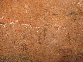 The White Lady (Namibia) cave with prehistoric art