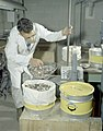 Weighing coins at Sherritt Gordon Mint, Calgary, Alberta (34894314122).jpg