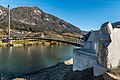 Weissenstein Puch Fussgaengerbrücke über Drau 08112015 8765.jpg