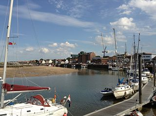 Wells-next-the-Sea port town on the North Norfolk coast of England
