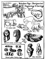 Reindeer Age (Aurignacian) Engravings & Carvings