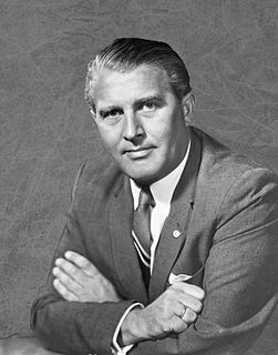 Wernher von Braun German, later American, aerospace engineer and space architect (1912–1977)