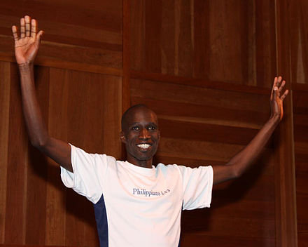 440px Wesley Korir of Kenya   LA Marathon Winner 2009 - Kenyan sportsmen, artistes and comedians who are politicians