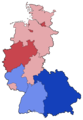 West German Federal Election - Party list vote results by state - 1972.png