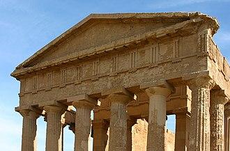 Triglyph - Image: West facade Temple of Concordia Agrigento Italy 2015 (4)