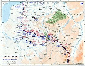 Map of the Western Front and the Race to the Sea, 1914