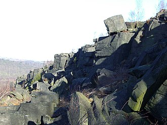 Wharncliffe Crags - The crags with their many detached boulders