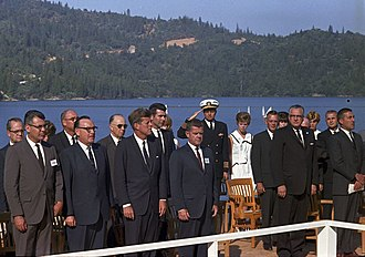 Pat Brown - Governor Brown with President Kennedy at the dedication of the Whiskeytown Dam, on September 28, 1963
