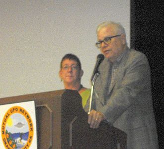 Whitley Strieber - Author Whitley Strieber and Anne Strieber, lecturing to MUFON