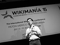 Wikimanía 2015 - Day 4 - Luis von Ahn conference - LMM (23).JPG
