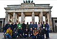Wikimedians in front of Brandenburg gate during Wikimedia Conference 2016, Berlin.jpg