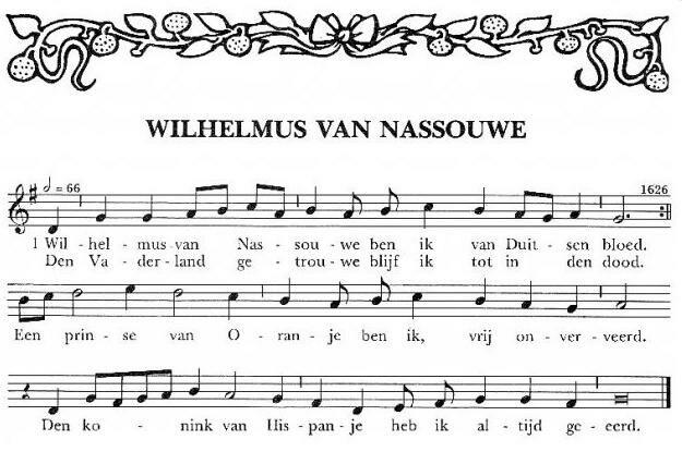 Wilhelmus bladmuziek