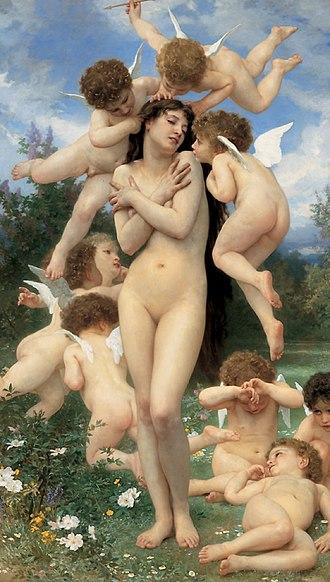 The Return of Spring - Image: William Adolphe Bouguereau (1825 1905) Return of Spring (1886)