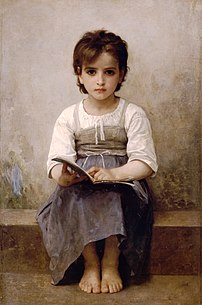 William-Adolphe Bouguereau's La leçon difficule (The Difficult Lesson).