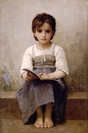 Hyperlexia - William-Adolphe Bouguereau, The Difficult Lesson (1884)