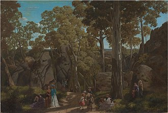Hanging Rock, Victoria - William Ford, At the Hanging Rock, 1875, National Gallery of Victoria