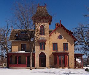 William G. LeDuc House - The William G. LeDuc House from the west