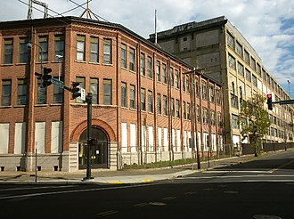 New Haven, Connecticut - Site of the Winchester Repeating Arms Company, which has since 1981 been converted to Science Park at Yale, a complex for start-ups and technological firms