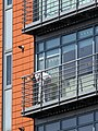 Window cleaning block of flats Tottenham, London, England 1.jpg