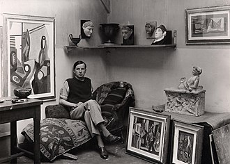 Wolfgang Paalen - Paalen in his studio apartment, rue Pernety, Paris, about 1933