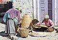Women bolting grain - Kagbeni, Nepal - panoramio.jpg